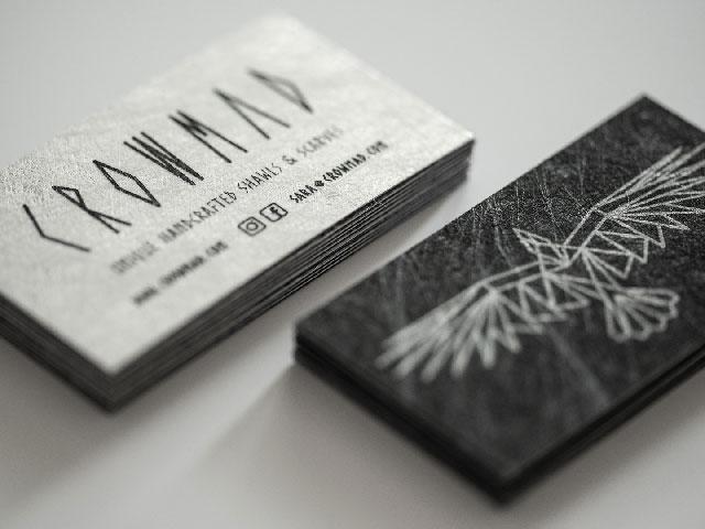 Wizytówki Crowmad, papier Favini Twist